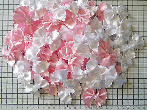 Large, White or Pink Satin Bow,Applique,Trimmings,Wedding - 5cm x 3,5cm