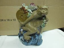 china monkey with coins and peach animal statue figurine