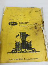 Entyre Black Topper Series 2000 Operation Maintenance Safety Manual OEM Factory