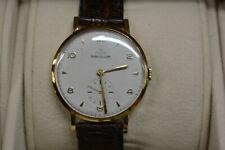 Vintage 18k Gold JAEGER-LeCOULTRE Winding Mens Watch 1950s Cal.P469/C EXELLENT