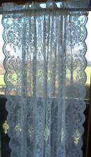 Gardine LUCIA Weiß Spitzen Rosen 2 x 120x240  Vintage Shabby Curtain Brocante