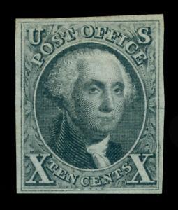 US 1875  WASHINGTON  10c black  Scott # 4  mint  MH VF/XF
