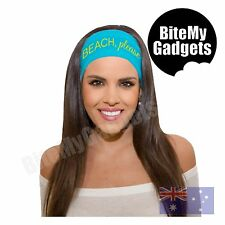 Beach Please Headband - UV Sun Protection Gym Exercise Bandana Headwear Scarf