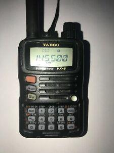 Yaesu VX-6E VHF/UHF Handfunkgerät mit Zubehör - Wasserdicht