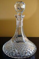 Vintage Rexxford Ebeling & Reuss Crystal Wine Decanter Carafe w/ Stopper Signed