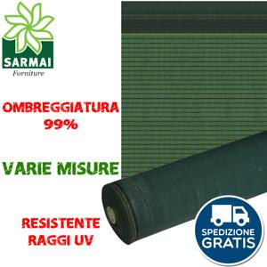 Rete telo ombreggiante verde ombra 99% frangivista frangisole oscurante