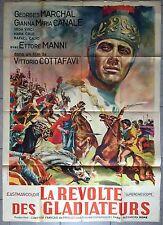Affiche LA REVOLTE DES GLADIATEURS Cottafavi ETTORE MANNI Peplum 100x140cm