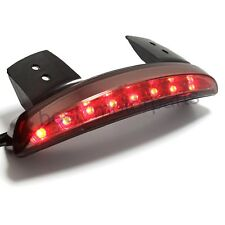 Motorcycle Tail Brake Stop Integrated 8 LED Red Light Strip Smoke Len Custom