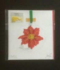 New ListingJody Designs Hand-painted Needlepoint Canvas Christina's Red Poinsettia Ornament