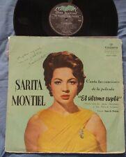SARA SARITA MONTIEL - El Ultimo Cuple RARE ISRAEL LP SIGNED AUTOGRAPHED