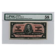 Bank of Canada Osborne/Towers $2 1937 BC-22a PMG Choice About Unc 58