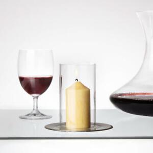 Tuuters ✿ 2x Windlichtgläser für Drinnen und Draußen ✿ Teelicht ✿ Glaszylinder