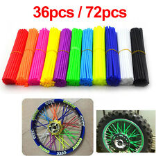 36pcs/72pcs Spoke Skins Covers Wheel Rim Protector Wraps For Motocross Dirt Bike