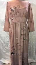 Shannon Rodgers Jerry Silverman Womens Long Brown Sheer Dress Formal Maxi 10 Vtg