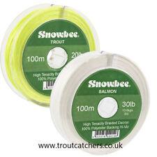 Snowbee Braided Dacron Backing Line - 30lb - 100m- Hi Viz Yellow