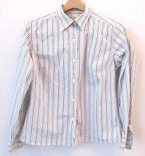 c537c159c4e LL Bean Womens Shirt Blue Green Striped Cotton Stretch Button Down Collar  Medium