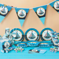 Sailor Boat Nautical Birthday Party Supplies Loot Bags Tableware Plates Decor