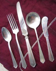 1911 Watson JOHN ALDEN Sterling Place Setting Knife Spoon Fork Butter - No Mono