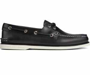 Sperry Top-Sider Men's Orleans Black Gold Cup Boat Shoe A/O 2-Eye Sz 8.5 -13 NIB