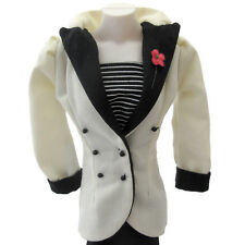 DANBURY MINT PRINCESS DIANA DOLL BLACK AND WHITE SUIT WITH  HAT PURSE HEELS
