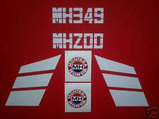 Montesa Honda MH 200 /349 tank decals-(red tank) Trials