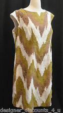 Signature by Robbie Bee Brown Olive cotton lightweight Dress plus SZ 18W 2X new