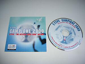 E-TYPE - CAMPIONE 2000 ANTHEM * 2 TRACK CD SINGLE HOLLAND 2000 *