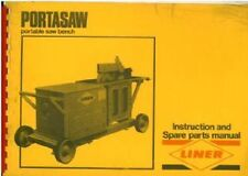 Liner Portasaw Portable Saw Bench Operators Manual and Parts List