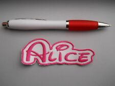 toppa patch nome personalizzato bambina termoadesiva cm 10 x 3 tovaglia zaino