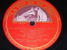 PIANO 3 x 78 rpm RECORDS VsA RACHMANINOFF & ORCHESTRA Concerto EUGÈNE ORMANDY