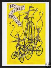 EDWARD GOREY Les Insectes Cyclistes from The Broken Spoke ART ARTWORK POSTCARD