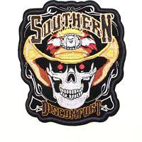 Parche Motorista biker chaqueta chaleco Southern Calavera motero bobber skull