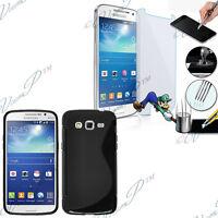 Etui Coque Silicone Gel Samsung Galaxy Core LTE 4G SM-G386F + Film Verre Trempe
