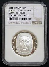 2014 Canada: $25 Matriarch Moon Mask, Ultra High Relief, NGC PF69 Ultra Cameo