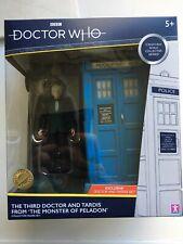 Dr Who THIRD DOCTOR & TARDIS SET Exclusive B&M Unopened Monster Of Peladon