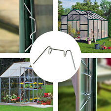 Aluminium Greenhouse W Clips Spring Wire Glazing Glass Frame Fixing Clamp 50-500