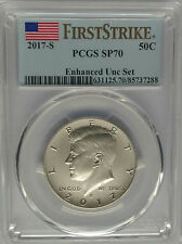 PCGS First Strike SP70 2017-S KENNEDY Half Dollar Enhanced Finish 225th US Mint