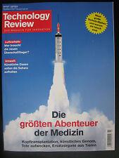 NEU! Technology Review – DAS MAGAZIN FÜR INNOVATION – März 3/2017