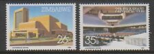 Zimbabwe - 1986, Harare International Conference Centre set - MNH - SG 688/9