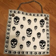 Alexander Mcqueen scull fabric chain large bag