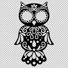 OWL SUGAR SKULL DAY OF THE DEAD ANIMAL YETI VINYL DECAL STICKER TUMBLER CAR