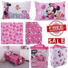 Bedding Set Toddler Girls Bed Sheet Pillowcase Kids Disney Minnie Mouse 4 Piece