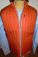 Victorinox Grafton Poly Quilted Vest with Reflective Trim NWT Large $195 Orange