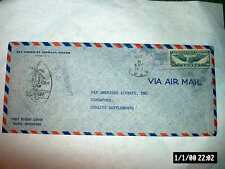 MAY 1941 FIRST FLIGHT COVER GUAM-SINGAPORE-UNITED STATES AIR MAIL 30 CENT STAMP