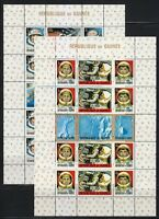 Guinea 1965 MNH Sc 387a & 393a American & Russian Achievements in Space.Two sets