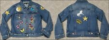 J BRAND Denim Blue Jean Jacket Size M/MEDIUM Women's Embellished Hippie BOHO