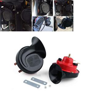 2PCS 12V Universal 105DB Super Loud Dual-tone Snail Air Horn Car Truck Boat