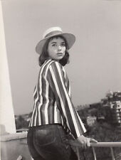 Elsa Martinelli With Long Striped Sleeve 8x10 Photo Print