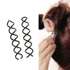Women  Spiral Spin Screw Pin Hair Clip Twist Barette Gold Brown Black Bridal