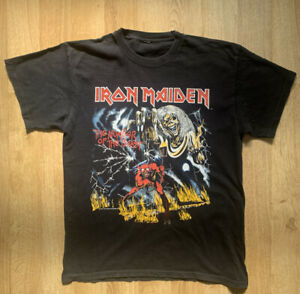 Iron Maiden Vintage Tour T Shirt The Number Of The Beast 666 - 1982 - Size Large